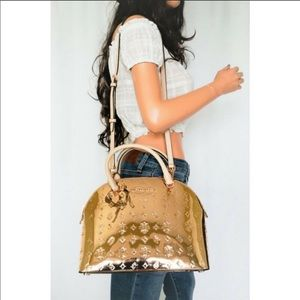 NWT MK Emmy Gold Dome Large Satchel